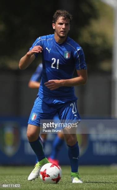Manuel Locatelli of Italy in action during the Italy U21 training session at Fulvio Bernardini sport center on June 9 2017 in Rome Italy
