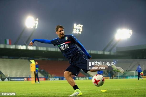 Manuel Locatelli of Italy takes part during an Italy U21 Training Session at Stadium Krakow on June 17 2017 in Krakow Poland