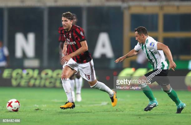 Manuel Locatelli of Milan during the PreSeason Friendly match between AC Milan and Villareal at Stadio Angelo Massimino on August 9 2017 in Catania...
