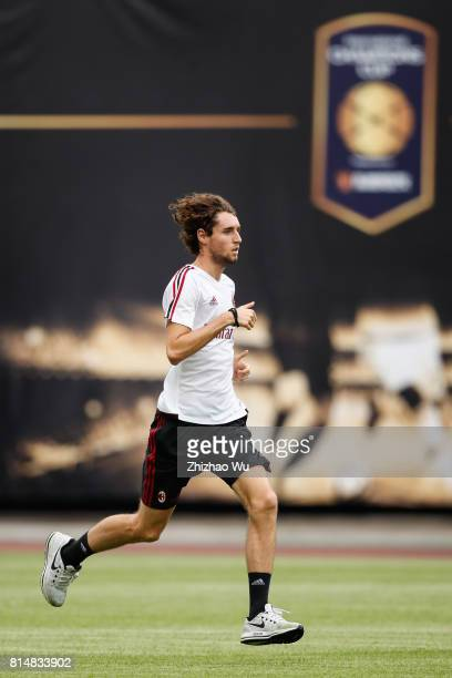 Manuel Locatelli was training at University Town Sports Centre Stadium on July 15 2017 in Guangzhou China