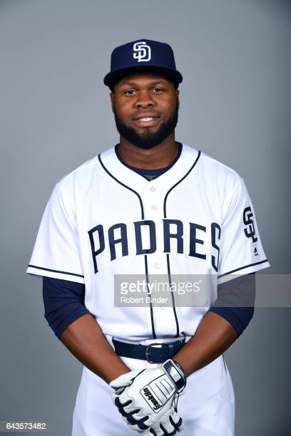Manuel Margot of the San Diego Padres poses during Photo Day on Sunday February 19 2017 at Peoria Stadium in Peoria Arizona