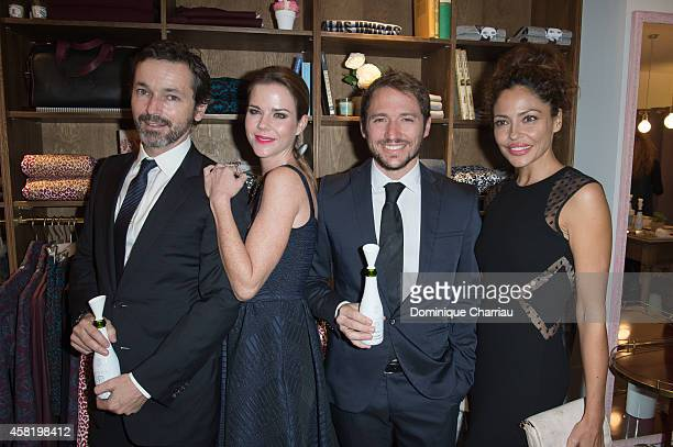 Manuel Martos Amelia Bono Luis Canut and Patricia Perez attend the 'Dolores Promesas' Opening Store in Paris on October 31 2014 in Paris France