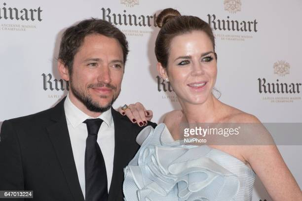 Manuel Martos and Amelia Bono attend the ARCO 2017 closing party at the Marlborough Art Gallery on March 1 2017 in Madrid Spain
