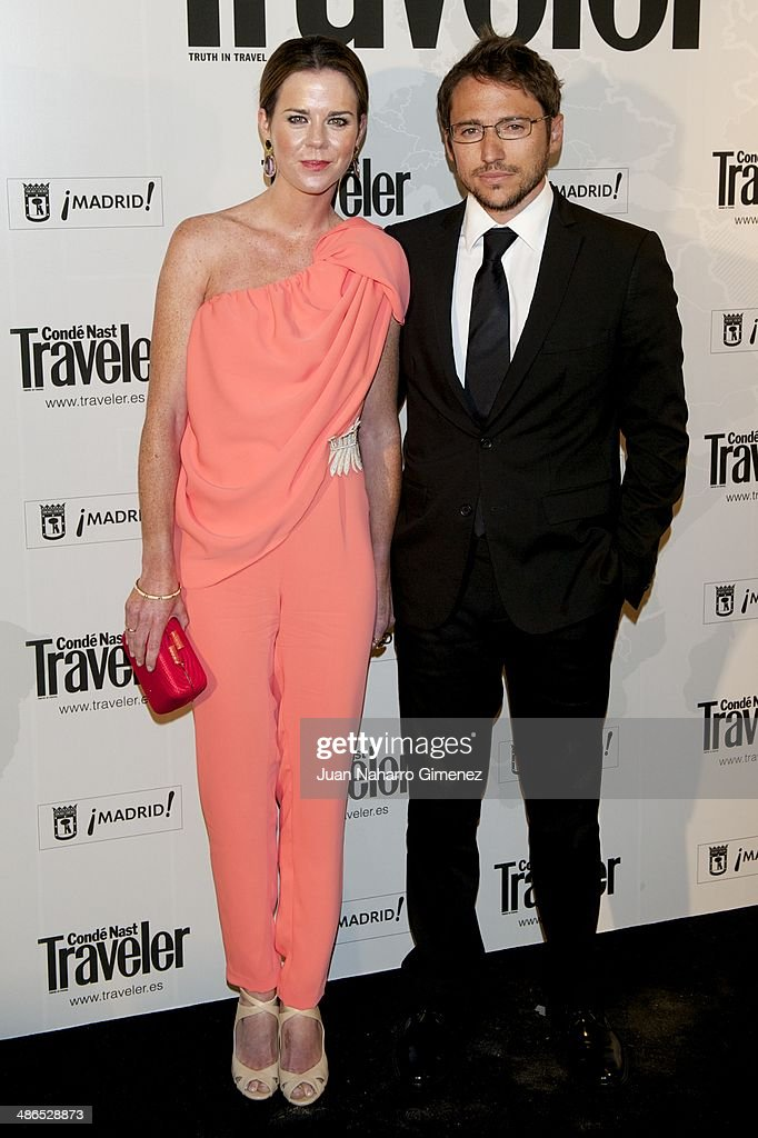 Manuel Martos and Amelia Bono attend the Conde Nast Traveler Awards 2014 at the Jardines de Cecilio Rodriguez on April 24, 2014 in Madrid, Spain.