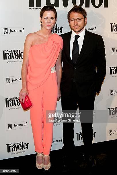 Manuel Martos and Amelia Bono attend the Conde Nast Traveler Awards 2014 at the Jardines de Cecilio Rodriguez on April 24 2014 in Madrid Spain