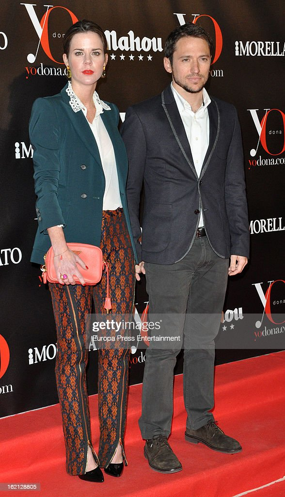 Manuel Martos and Amelia Bono attend 'Yo Dona' magazine mask party on February 18, 2013 in Madrid, Spain.