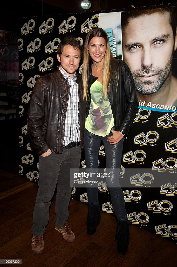 Manuel Martos and Spanish model Laura Sanchez attend David Ascanio concert at the Cafe 40 Club on April 11, 2013 in Madrid, Spain.