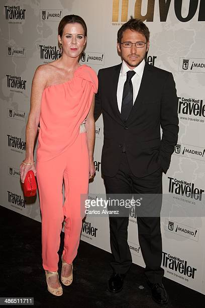 Manuel Martos and wife Amelia Bono attend the Conde Nast Traveler Awards 2014 at the at Jardines de Cecilio Rodriguez on April 24 2014 in Madrid Spain