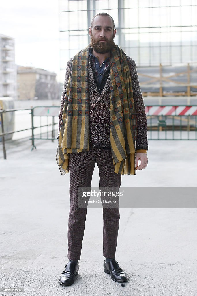 Manuel Menini wears Missoni trousers and Jacket on day 3 Rome Fashion Week Spring/Summer 2014, on January 27, 2014 in Rome, Italy.