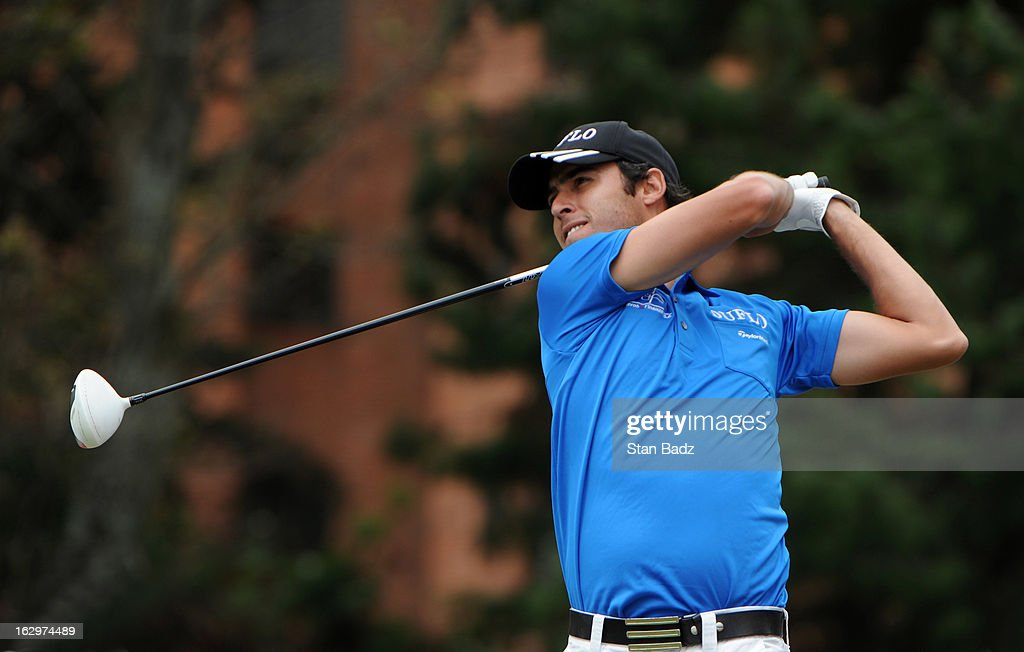 Manuel Merizalde of Colombia hits a drive on the eighth hole during the third round of the Colombia Championship at Country Club de Bogota on March 2, 2013 in Bogota, Colombia.