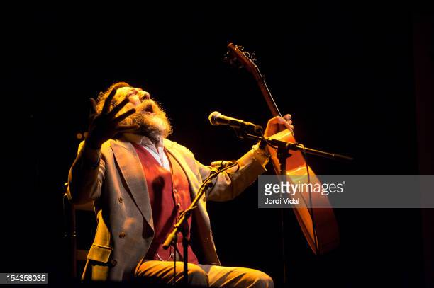 Manuel Molina performs on stage at Sala Apolo on October 18 2012 in Barcelona Spain