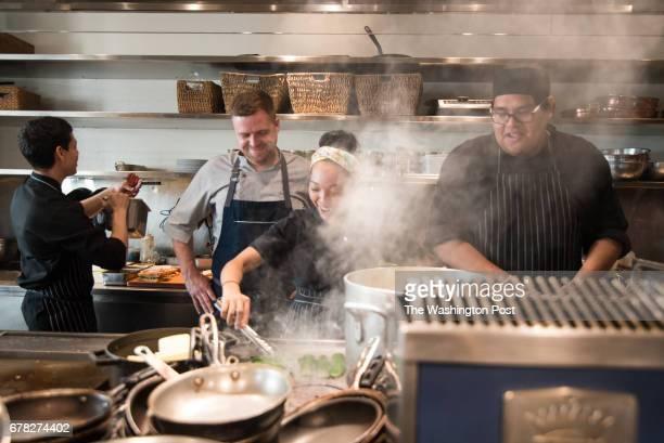 Manuel Morales Chef Bradley Deboy Ria Maduro Montes and Jesse Balderas at Blue Duck Tavern