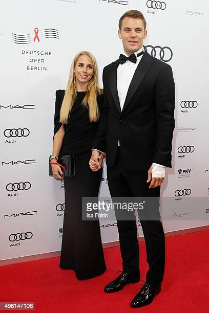 Manuel Neuer and Nina Weiss attend the 22nd Opera Gala at Deutsche Oper Berlin on November 7 2015 in Berlin Germany