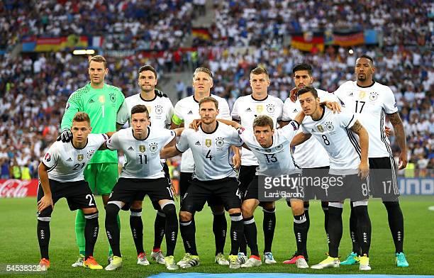 Manuel Neuer Jonas Hector Bastian Schweinsteiger Toni Kroos Emre Can and Jerome Boateng of Germany Joshua Kimmich Julian Draxler Benedikt Hoewedes...