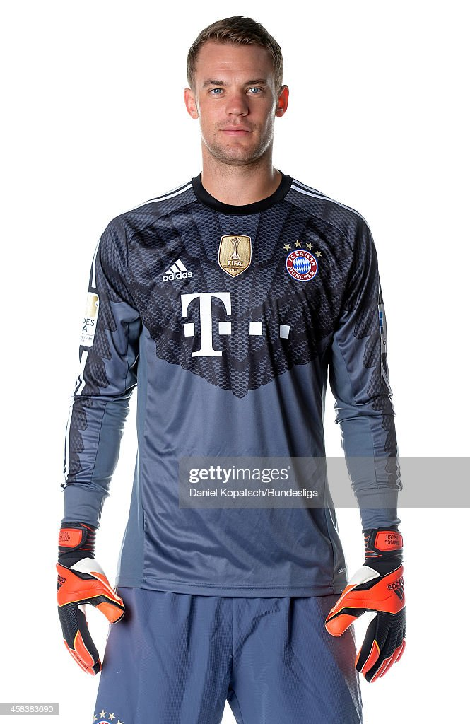 <a gi-track='captionPersonalityLinkClicked' href=/galleries/search?phrase=Manuel+Neuer&family=editorial&specificpeople=764621 ng-click='$event.stopPropagation()'>Manuel Neuer</a> poses during the FC Bayern Muenchen Team Presentation for DFL on August 9, 2014 in Munich, Germany.