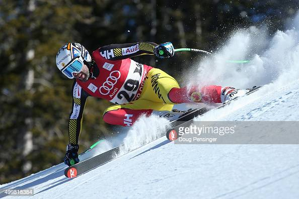 Manuel OsborneParadis of Canad descends the course during downhill training for the Audi FIS Ski World Cup on the Birds of Prey on December 3 2015 in...
