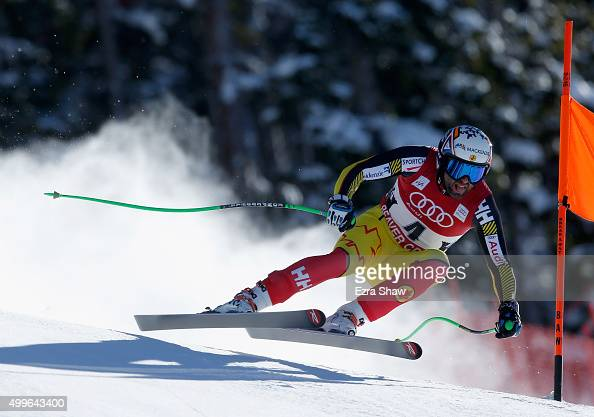Manuel OsborneParadis of Canada competes during downhill training for the Audi FIS Ski World Cup on the Birds of Prey on December 2 2015 in Beaver...