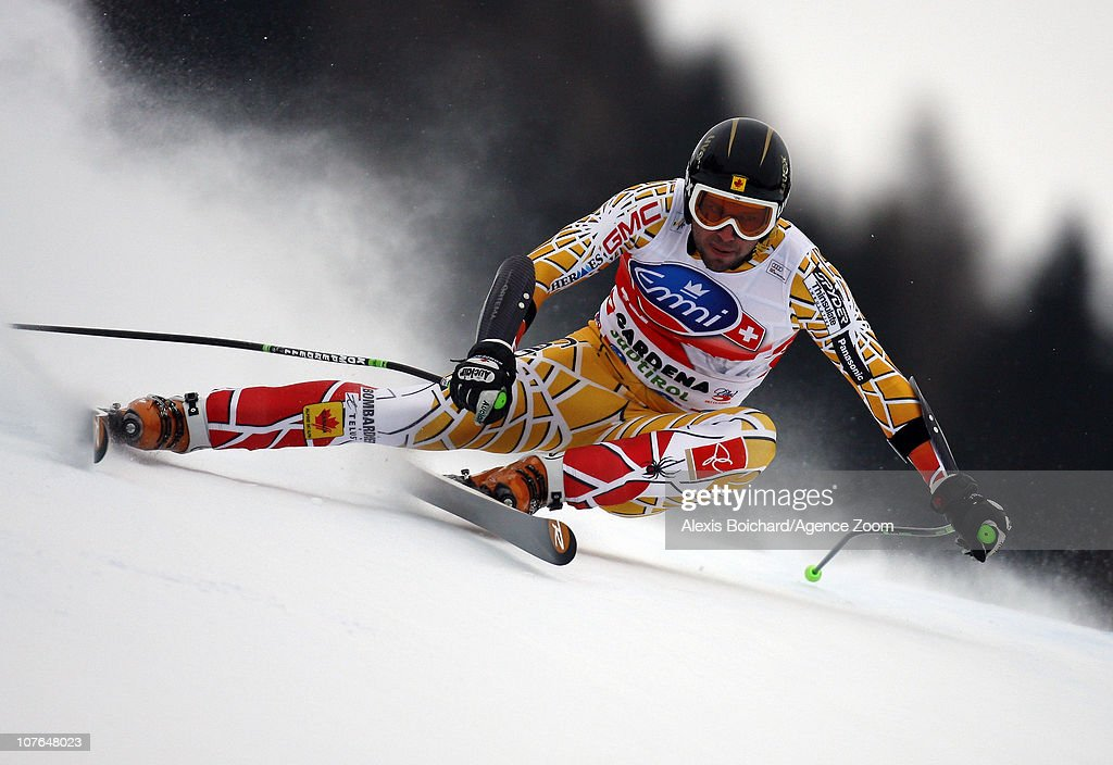 Manuel OsborneParadis of Canada competes during the Audi FIS Alpine Ski World Cup Men's SuperG on December 17 2010 in Val Gardena Italy