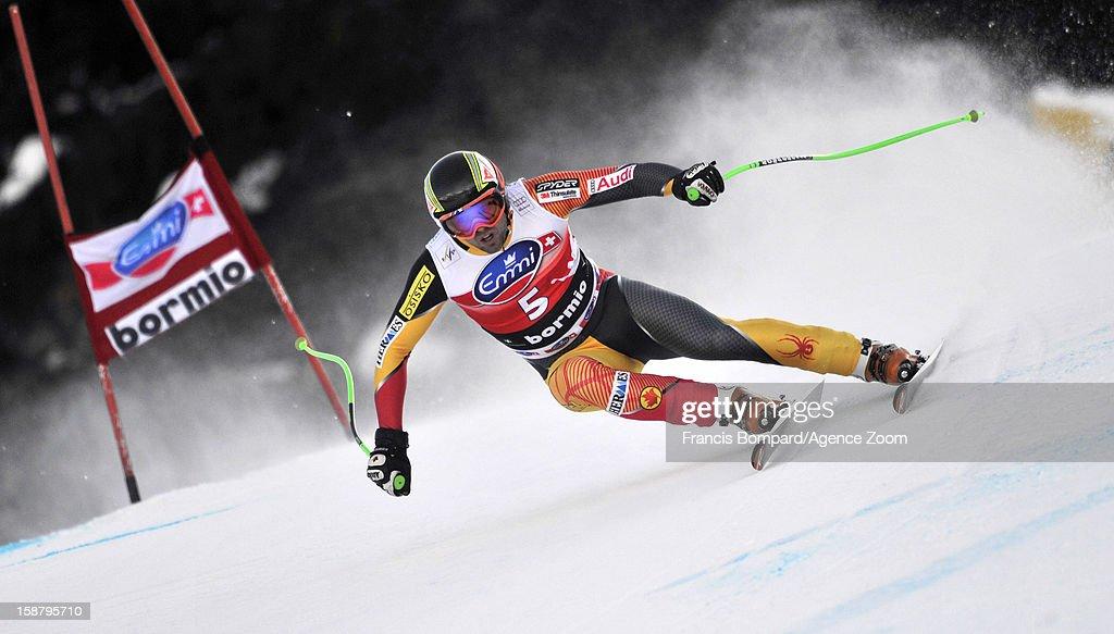 Manuel OsborneParadis of Canada competes during the Audi FIS Alpine Ski World Cup Men's Downhill on December 29 2012 in Bormio Italy
