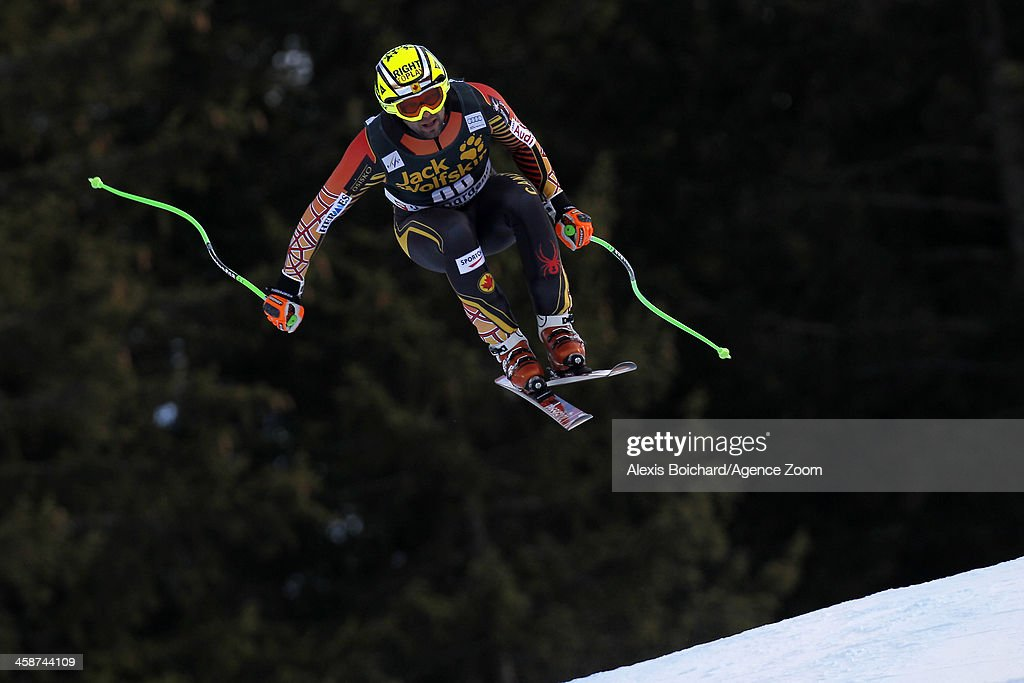 Manuel OsborneParadis of Canada competes during the Audi FIS Alpine Ski World Cup Men's Downhill on December 21 2013 in Val Gardena Italy