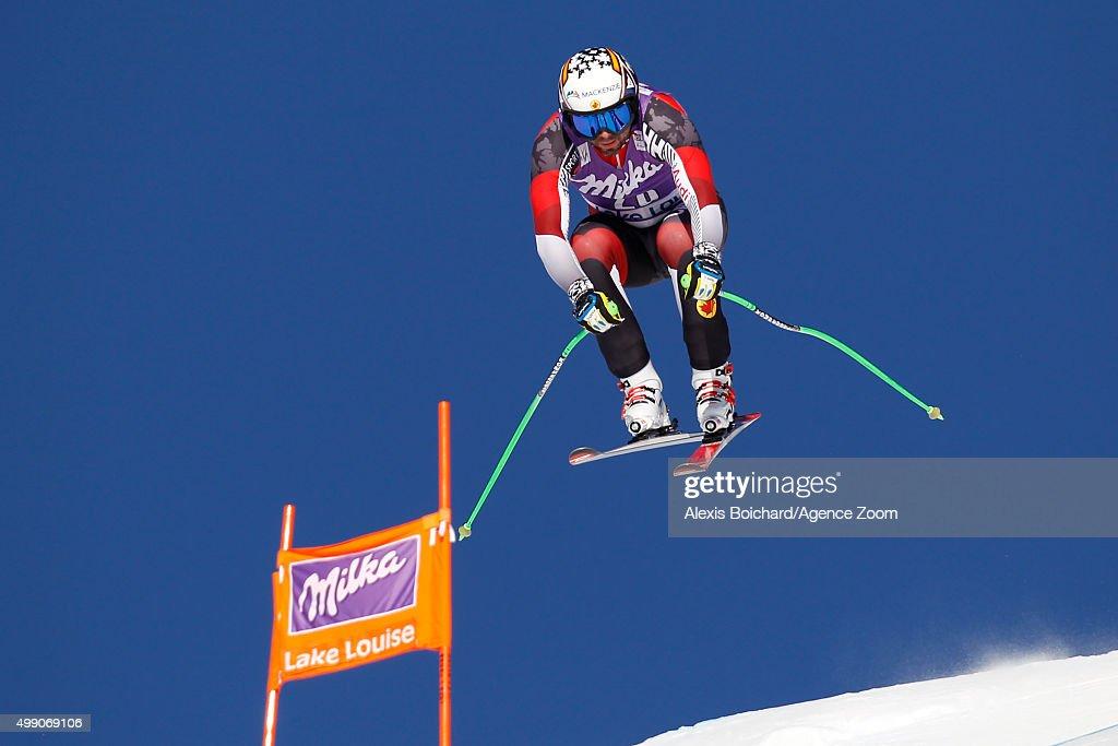 Manuel OsborneParadis of Canada competes during the Audi FIS Alpine Ski World Cup Men's Downhill on November 28 2015 in Lake Louise Canada