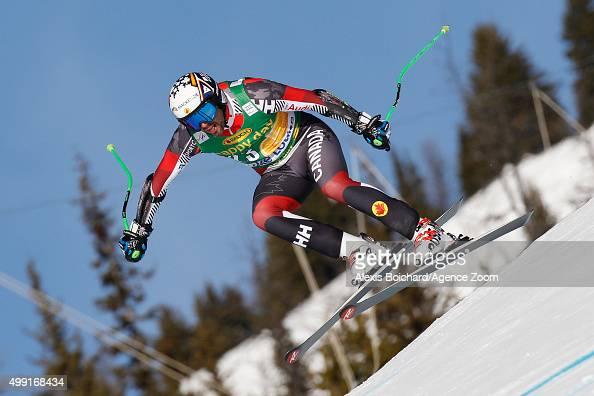 Manuel OsborneParadis of Canada competes during the Audi FIS Alpine Ski World Cup MenÕs SuperG on November 29 2015 in Lake Louise Canada