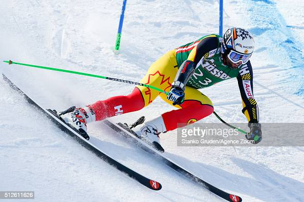 Manuel OsborneParadis of Canada competes during the Audi FIS Alpine Ski World Cup Men's SuperG on February 27 2016 in Hinterstoder Austria