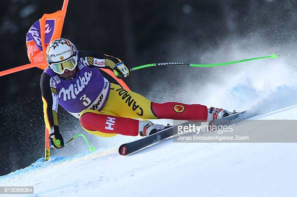 Manuel OsborneParadis of Canada competes during the Audi FIS Alpine Ski World Cup Men's Downhill on March 12 2016 in Kvitfjell Norway