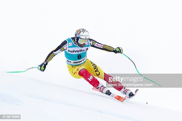 Manuel OsborneParadis of Canada competes during the Audi FIS Alpine Ski World Cup Finals Men's and Women's Downhill on March 16 2016 in St Moritz...