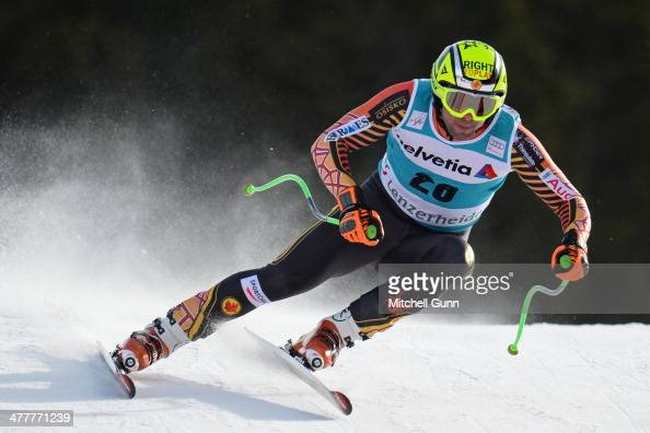 Manuel OsborneParadis of Canada competes in the Audi FIS Alpine Skiing World Cup Finals men's downhill training on March 11 2014 in Lenzerheide...