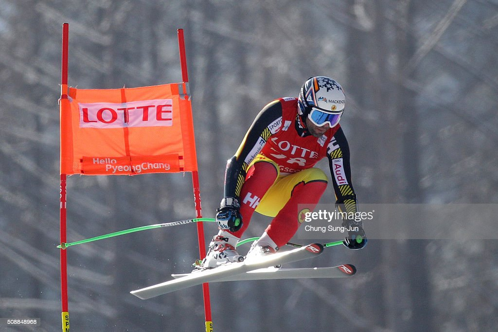 Manuel OsborneParadis of Canada competes in the Men's Super G Finals during the 2016 Audi FIS Ski World Cup at the Jeongseon Alpine Centre on...