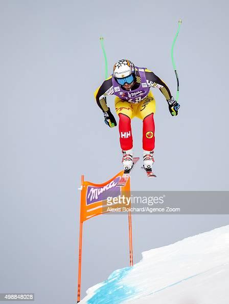Manuel OsborneParadis of Canada during the Audi FIS Alpine Ski World Cup Men's Downhill Training on November 26 2015 in Lake Louise Canada
