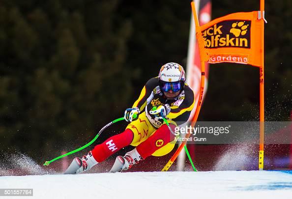 Manuel OsborneParadis of Canada during the training run for the Audi FIS Alpine Ski World Cup Downhill race on December 16 2015 in Val Gardena Italy