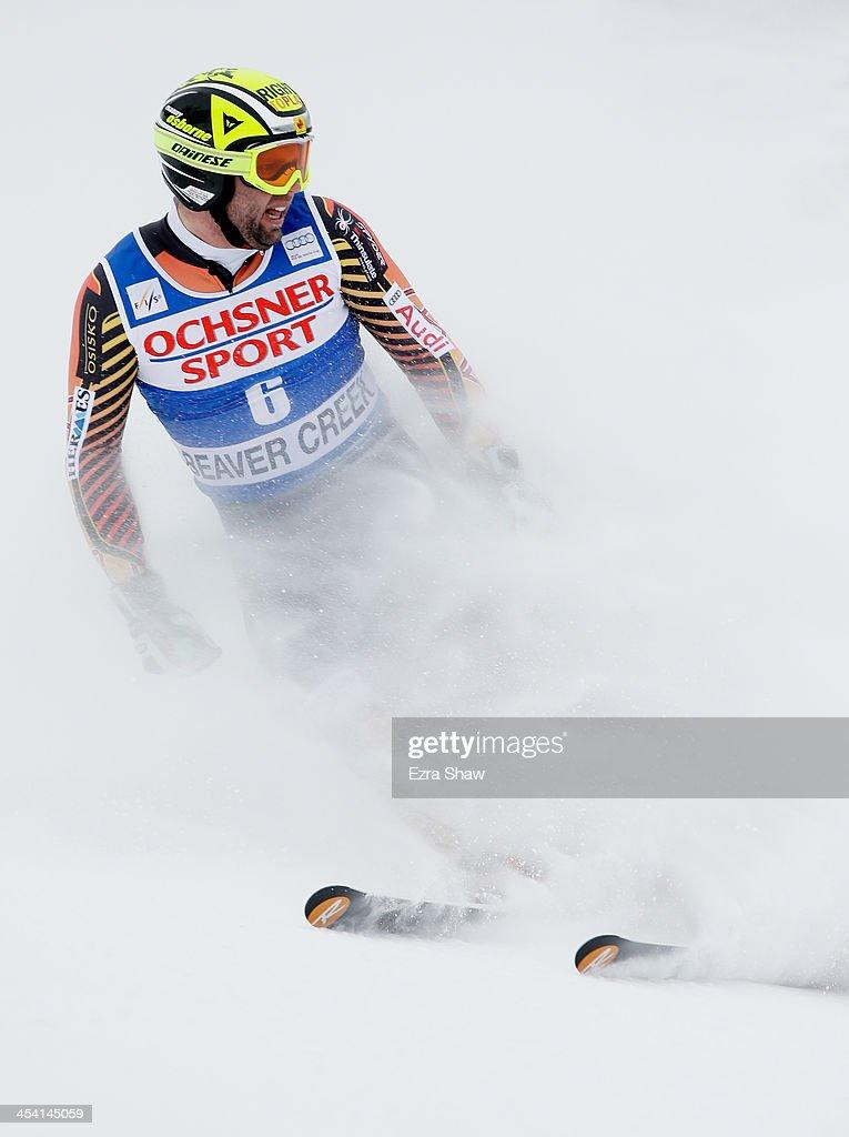 Manuel OsborneParadis of Canada in action during the 2013 Audi FIS Beaver Creek World Cup Men's Super G race on December 7 2013 in Beaver Creek...