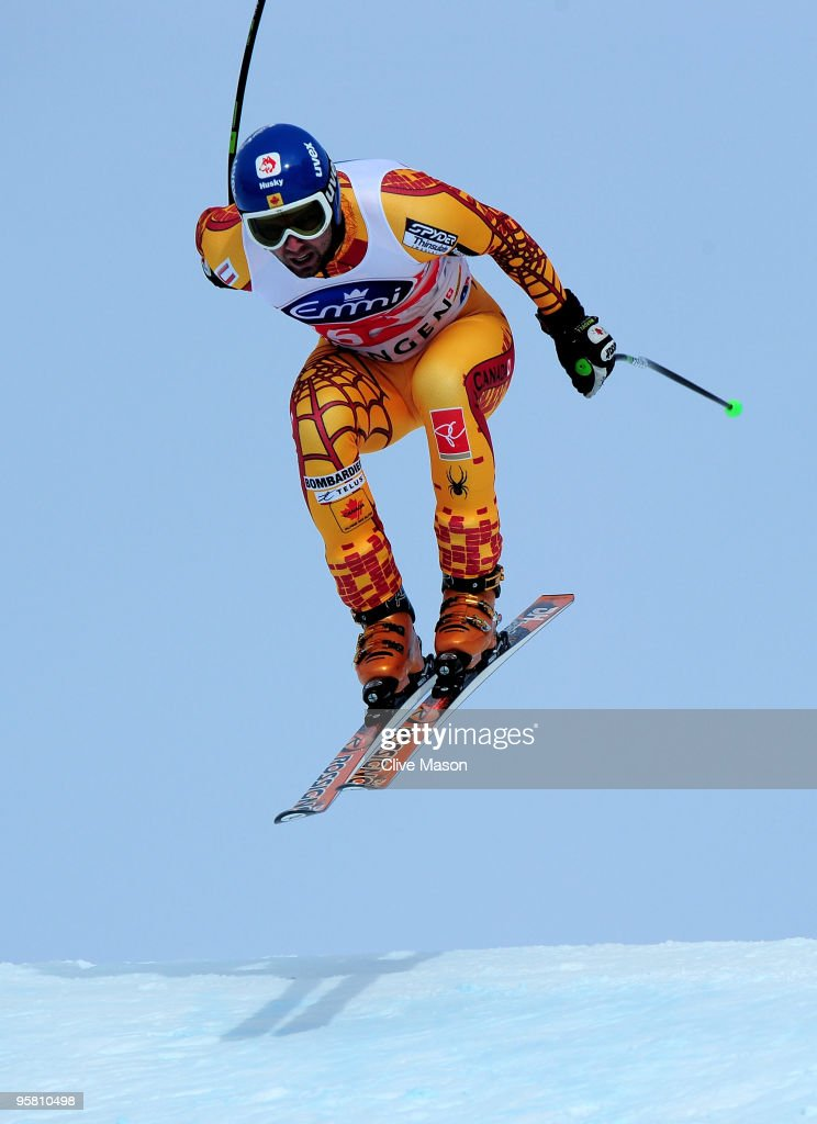 Manuel OsborneParadis of Canada in action on his way to second place during the FIS World Cup Downhill event on January 16 2010 in Wengen Switzerland