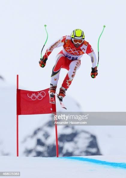Manuel OsborneParadis of Canada skis during the Alpine Skiing Men's Downhill at Rosa Khutor Alpine Center on February 9 2014 in Sochi Russia