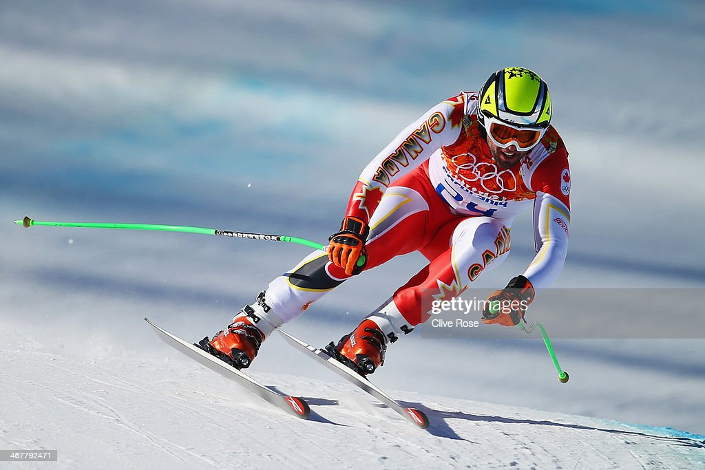 <a gi-track='captionPersonalityLinkClicked' href=/galleries/search?phrase=Manuel+Osborne-Paradis&family=editorial&specificpeople=5402183 ng-click='$event.stopPropagation()'>Manuel Osborne-Paradis</a> of Canada skis during training for the Alpine Skiing Men's Downhill during the Sochi 2014 Winter Olympics at Rosa Khutor Alpine Center on February 8, 2014 in Sochi, Russia.