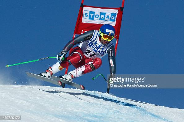 Manuel OsborneParadis of Canada takes 2nd place during the Audi FIS Alpine Ski World Cup Men's Downhill on November 29 2014 in Lake Louise Canada