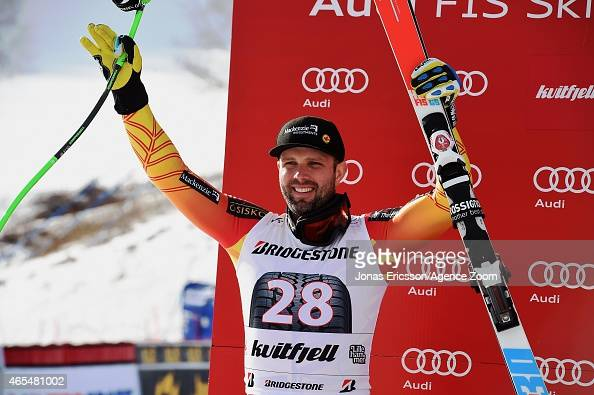 Manuel OsborneParadis of Canada takes 2nd place during the Audi FIS Alpine Ski World Cup Men's Downhill on March 07 2015 in Kvitfjell Norway