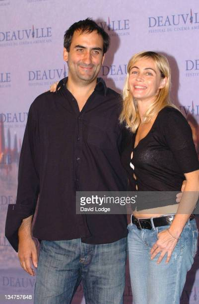 Manuel Padal and Emmanuelle Beart during 32nd Deauville Film Festival 'A Crime' Photocall at Deauville Film Festival in Deauville France