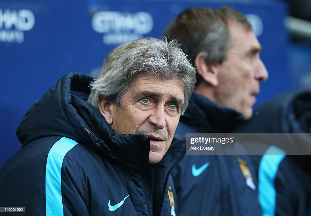 <a gi-track='captionPersonalityLinkClicked' href=/galleries/search?phrase=Manuel+Pellegrini&family=editorial&specificpeople=673553 ng-click='$event.stopPropagation()'>Manuel Pellegrini</a>, Manager of Manchester City looks on during the Barclays Premier League match between Manchester City and Tottenham Hotspur at Etihad Stadium on February 14, 2016 in Manchester, England.