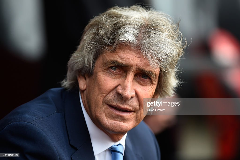 <a gi-track='captionPersonalityLinkClicked' href=/galleries/search?phrase=Manuel+Pellegrini&family=editorial&specificpeople=673553 ng-click='$event.stopPropagation()'>Manuel Pellegrini</a>, manager of Manchester City looks on during the Barclays Premier League match between Southampton and Manchester City at St Mary's Stadium on May 1, 2016 in Southampton, England.