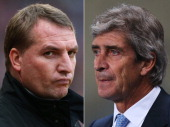 IMAGES Image Numbers 159397701 and 459415429 In this composite image a comparison has been made between Brendan Rodgers manager of Liverpool and...