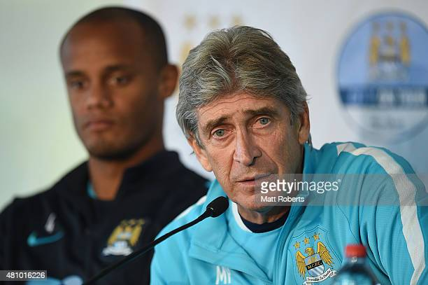 Manuel Pellegrini speaks during a press conference on July 17 2015 on the Gold Coast Australia