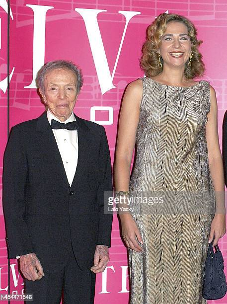 Manuel Pertegaz and Princess Cristina of Spain attend Telva Fashion Awards on October 6 2003 in Madrid Spain