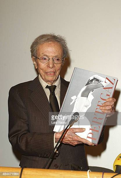 Manuel Pertegaz attends the opening of a retrospective exhibition of his creations at Reina Sofia Museum of his on February 17 2004 in Madrid Spain