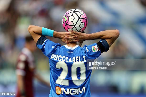 Manuel Pucciarelli of Empoli Fc reacts during the Serie A match between Empoli FC and Torino FC at Stadio Carlo Castellani on May 15 2016 in Empoli...