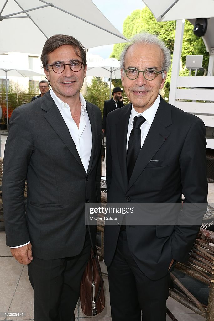 Manuel Puig and Ralf Toledano attend the Chambre Syndicale de la Haute Couture cocktail party at Palais De Tokyo on July 4, 2013 in Paris, France.