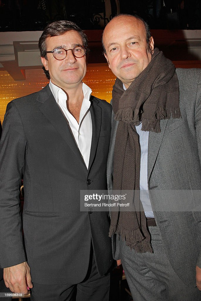 Manuel Puig (L) and Thierry Andretta attend the Jean-Paul Gaultier Spring/Summer 2013 Haute-Couture show as part of Paris Fashion Week on January 23, 2013 in Paris, France.