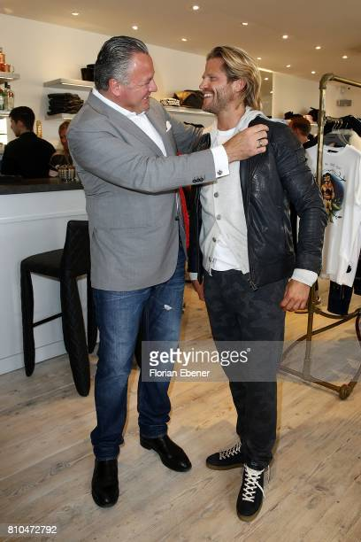 Manuel Rivera and Paul Janke attend the Different Fashion Event on July 7 2017 in Sylt Germany